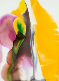 Paul Jenkins (1923-2012) Phenomena Amber Gift, 1976 Watercolor on Arches paper 42 x 30 inches (10