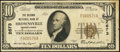 Brownsville, PA - $10 1929 Ty. 1 The Second National Bank Ch. # 2673 Very Fine