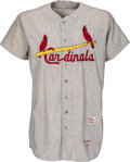 Baseball Collectibles:Uniforms, 1960 Harry Walker Game Worn St. Louis Cardinals Jersey....