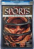 Baseball Collectibles:Publications, 1955 Yogi Berra Sports Illustrated Magazine CGC 8.5 - First SI Cover!...