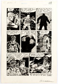 Original Comic Art:Panel Pages, Mike Roy The Unseen #13 Pre-Code Horror Story Page 6Original Art (Standard/Pines Comics, 1954)....
