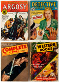 Pulps:Detective, Assorted Detective/Western Pulps Group of 7 (Various, 1932-43) Condition: Average VG.... (Total: 7 Items)