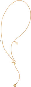 "Luxury Accessories:Accessories, Hermès Rose Gold & Diamond H Gambade Long Necklace. Condition: 1. 24"" Length. ..."