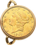 Timepieces:Pocket (post 1900), Bueche Girod $20 Gold Coin Watch For Restoration. ...