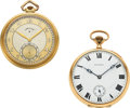 Timepieces:Pocket (post 1900), Elgin 14k Gold C.H. Hulburd & Howard 14k Gold 17 Jewel. ... (Total: 2 Items)