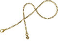 Timepieces:Watch Chains & Fobs, Unusual 14k Green Gold Watch Chain, Ruby & Diamond Heart-Shaped Fob. ...