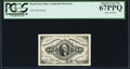 Fractional Currency:Third Issue, Heath Face Plate Counterfeit Detector 10¢ Third Issue PCGS Superb Gem New 67PPQ.. ...