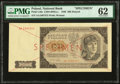 World Currency, Poland Polish National Bank 500 Zlotych 1948 Pick 140a Specimen PMG Uncirculated 62.. ...