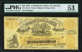 Confederate Notes:1861 Issues, CT-XXI/C2 $20 1861 Female Riding Deer Bogus Note with Back F PMG About Uncirculated 53.. ...