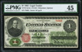 Fr. 16 $1 1862 Legal Tender PMG Choice Extremely Fine 45