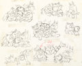 Animation Art:Model Sheet, Fritz the Cat Bathtub Orgy Scene Mod...