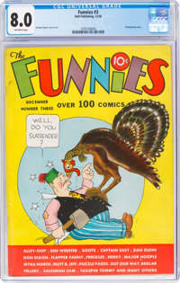 The Funnies #3 (Dell, 1936) CGC VF 8.0 Off-white pages