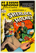 Golden Age (1938-1955):Classics Illustrated, Classics Illustrated #33 The Adventures of Sherlock Holmes HRN 89 Version 4B (Gilberton, 1951) Condition: VF....