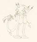 Animation Art:Production Drawing, Mickey in Arabia Mickey and Minnie Mouse Animation Drawing(Walt Disney, 1932). ...