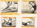 Animation Art:Production Drawing, Ben and Me Original Bill Peet Storyboard Drawings (Walt Disney, 1953). ...