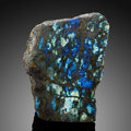 Lapidary Art:Carvings, Labradorite Free-Form Sculpture . Madagascar. ...