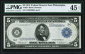 Fr. 854 $5 1914 Federal Reserve Note PMG Choice Extremely Fine 45 EPQ