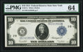 Fr. 911c $10 1914 Federal Reserve Note PMG Choice Uncirculated 64