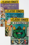Golden Age (1938-1955):Classics Illustrated, Classic Comics/Classics Illustrated First Editions Group of 12 (Gilberton, 1943-47) Condition: Average GD+.... (Total: 12 Comic Books)
