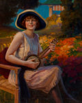 Mainstream Illustration, Hy (Henry) Hintermeister (American, 1897-1972). Woman with Instrument. Oil on canvas. 25 x 20 in.. Signed lower left. ...