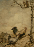 Fine Art - Work on Paper, Arthur Rackham (British, 1867-1939). The Adventure of Chanticleer & Partlet, The Fairy Tales of the Brothers Grimm interio...