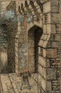 Fine Art - Work on Paper, Arthur Rackham (British, 1867-1939). How You'd Frown Should a Ladleful Fall on Your Crown, Ingoldsby Legends interior illu...