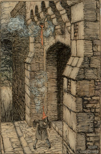 Arthur Rackham (British, 1867-1939) How You'd Frown Should a Ladleful Fall on Your Crown, Ingoldsby Legends interior ill...