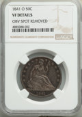 Seated Half Dollars, 1841-O 50C -- Obverse Spot Removed -- NGC Details. VF. NGC Census: (3/119). PCGS Population: (10/218). CDN: $130 Whsle. Bid...