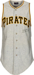 Baseball Collectibles:Uniforms, 1958 Elroy Face Game Worn & Signed Pittsburgh Pirates Jersey....