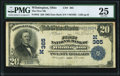 Wilmington, OH - $20 1902 Date Back Fr. 642 The First National Bank Ch. # (M)365 PMG Very Fine 25