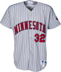 Baseball Collectibles:Uniforms, 1993 Dave Winfield Game Worn & Signed Minnesota Twins Jersey....