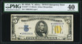 Fr. 2307* $5 1934A North Africa Silver Certificate Star. PMG Extremely Fine 40