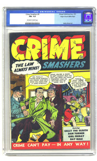 Crime Smashers #5 Mile High pedigree (Ribage Publishing, 1951) CGC FN+ 6.5 Off-white to white pages. Wally Wood art. Ove...