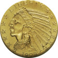 Proof Indian Half Eagles: , 1908 $5 PR67 NGC. According to Charles E. Green (1936) only 167 proofs were made of this first year of the Pratt Indian hea...