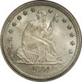 Seated Quarters: , 1864-S 25C MS68 NGC. Ex: Eliasberg. The description from the landmark offering of Louis E. Eliasberg Quarters sold nearly s...