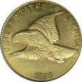 Flying Eagle Cents: , 1856 1C MS66 PCGS. Eagle Eye Photo Seal. Snow-3. Only two 1856 Flying Eagle cents are currently graded MS66 by PCGS: the pr...