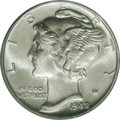 1942/1 10C MS65 Full Bands PCGS. The fabled 1942/1 is the most popular variety in the Mercury Dime series, and it is als...