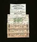 Confederate Notes:Group Lots, Six Confederate Bond Coupons.. This is another avenue for the Confederate collector to take, with this lot consisting of si... (Total: 6 items Item)