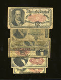 Fractional Currency:Fifth Issue, $2.10 Face - Six Fractionals.. Fr. 1258 10c Fourth Issue Fine. Fr. 1294 25c Third Issue Good. Fr. 1309 25c Fifth Issue Fine... (Total: 6 notes Item)
