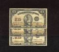 Canadian Currency:Series 472, DC-24a 25¢ 1923 Three Examples Very Good or Better. ... (Total: 3 notes Item)