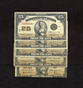 Canadian Currency:Series 472, DC-24d 25¢ 1923 Five Examples. Two of these notes grade VG, two grade Fine, and one grades VF.. ... (Total: 5 notes Item)