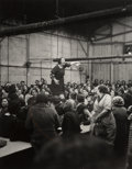 Photographs:20th Century, Willy Ronis (French, 1910-2009). Shop Steward Rose Zehner Addressing Workers During the Strike at Citroën, Javel, Paris,...