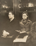 Photographs:Gelatin Silver, Attributed to Walker Evans (American, 1903-1975). Untitled (Subway Portrait), New York, circa 1938. Gelatin silver. 10 x...