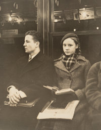 Attributed to Walker Evans (American, 1903-1975) Untitled (Subway Portrait), New York, circa 1938 Gelatin silver 10 x