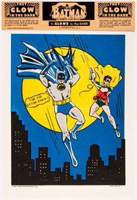 Batman with Robin: The Boy Wonder Glow in the Dark Poster (National Periodical Publications, 1966)