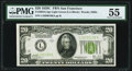 Fr. 2053-L $20 1928C Federal Reserve Note. PMG About Uncirculated 55