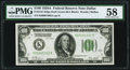 Fr. 2151-K $100 1928A Dark Green Seal Federal Reserve Note. PMG Choice About Unc 58