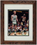 Autographs:Photos, Larry Bird & Magic Johnson Dual-Signed & Framed Photograph....