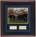 Autographs:Photos, President Ronald Reagan & Prime Minister Margaret Thatcher Dual-Signed & Framed Photographs Display....