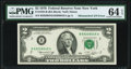 Mismatched Serial Numbers Error Fr. 1935-B $2 1976 Federal Reserve Note. PMG Choice Uncirculated 64 EPQ